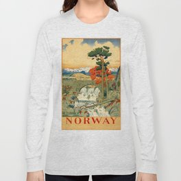 Vintage poster - Norway Long Sleeve T-shirt