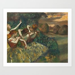 Edgar Degas - Four Dancers, 1889 Art Print
