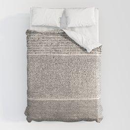 The Rosetta Stone // Antique White Comforters