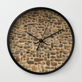 Mosaic Pebble Wall Wall Clock