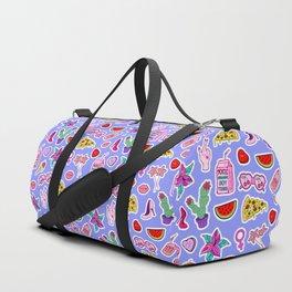 Blue Punch Duffle Bag