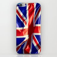 england iPhone & iPod Skins featuring England Flag by Fine2art