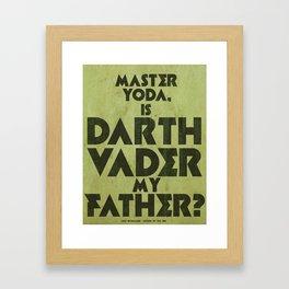 Luke Skywalker Print - RIGHT Framed Art Print