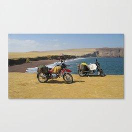 Motorbike Travel Canvas Print