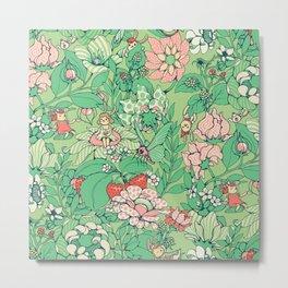 Garden party - sage tea version Metal Print