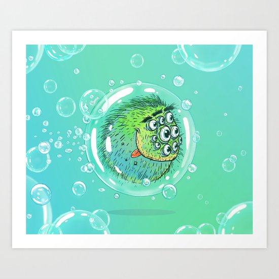 Bacillus B0b on bubble-transport Art Print