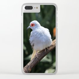 Portrait of a Diamond Dove Clear iPhone Case