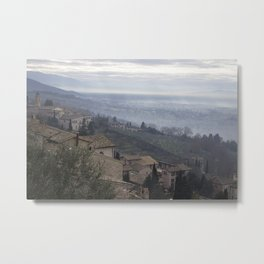 Hillside in Assisi, Italy Metal Print