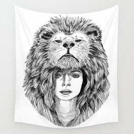 Lion Lady Wall Tapestry