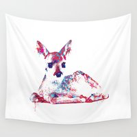fawn Wall Tapestries featuring Fawn by lauramaahs