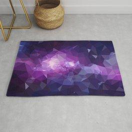 Purple galaxy 2 low poly Rug