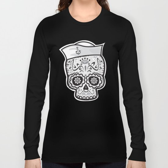Marinero muerto sugar skull Long Sleeve T-shirt