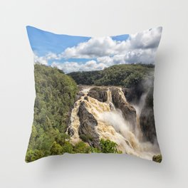 Magnificent Barron Falls in Queensland Throw Pillow