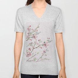 Apple Blossom Pink #society6 #buyart Unisex V-Neck