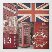 british Canvas Prints featuring Very British by LebensART