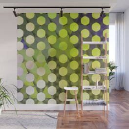 Circles on Triangles Lime Wall Mural