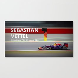 Sebastian Vettel - Formula One Driver Canvas Print