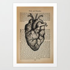 Pride & Prejudice, Chapter XXXV: Anatomical Heart Art Print