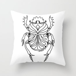 the mighty scarab Throw Pillow