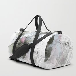 Painted thistle on textured background Duffle Bag