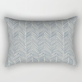 Freeform Arrows in navy Rectangular Pillow