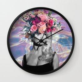 Bardot In A Bouquet Wall Clock
