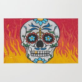DAY OF THE DEAD - FLAMING RED VOODOO Rug