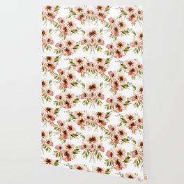 Rust floral Wallpaper