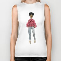 fancy Biker Tanks featuring Fancy by Coily and Cute