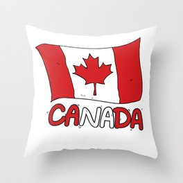 Canadian Flag Canada Gift Throw Pillow