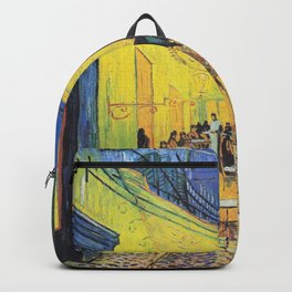 Café Terrace at Night by Vincent van Gogh Backpack