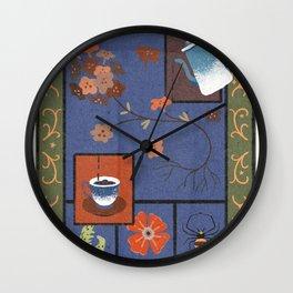 Folk Coffee Wall Clock
