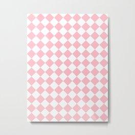 Diamonds - White and Pink Metal Print