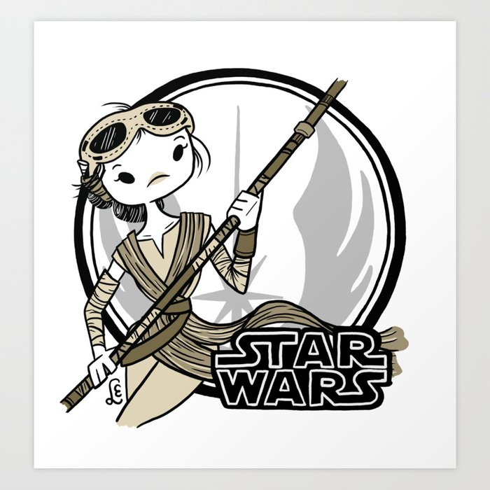 Rebel Ladies, Rey Art Print