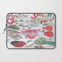 Know Your Groceries Laptop Sleeve