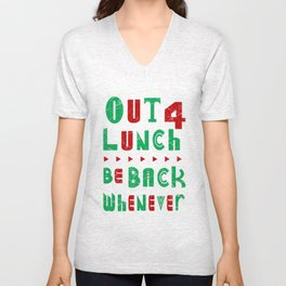 out 4 lunch Unisex V-Neck