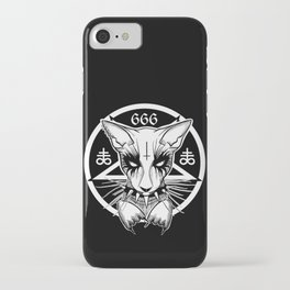 Black Metal Cat iPhone Case