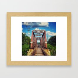 Kellogg Bridge Framed Art Print