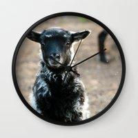 lamb Wall Clocks featuring Lamb by hyycam