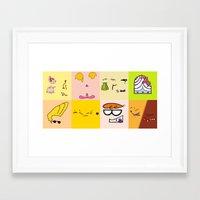 cartoons Framed Art Prints featuring Classic Cartoons by DanielBergerDesign