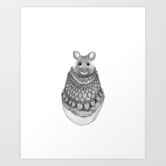The Mouse- Feathered Art Print