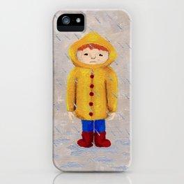 Boy In Rain iPhone Case