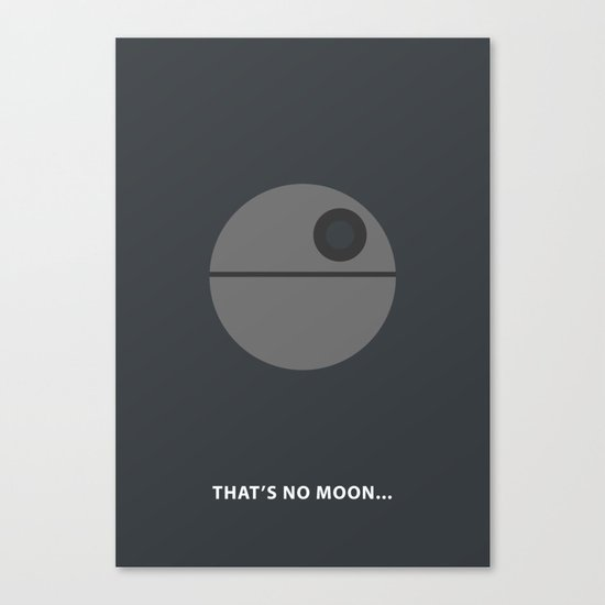 Star Wars Minimalism - Death Star Canvas Print
