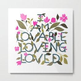 Love affirmations Metal Print