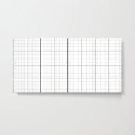 Grey Millimeter Paper Metal Print