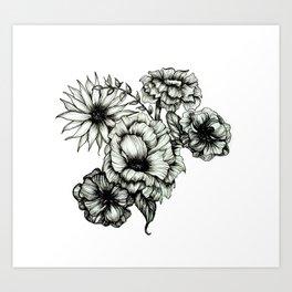 Floral Ink III Art Print