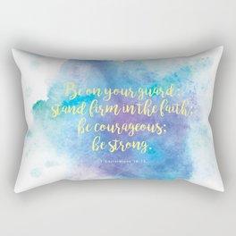 Inspiring Bible Verse, Be Courageous Rectangular Pillow