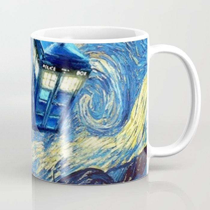 Tardis Doctor Who Starry Night Coffee Mug