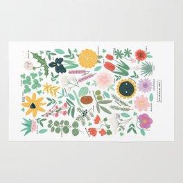 Botanical ABC Rug