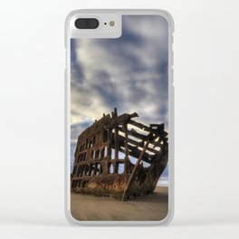Peter Iredale Shipwreck Sunrise Clear iPhone Case